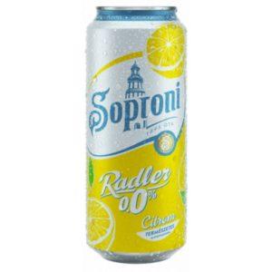 Soproni Radler 0% Citrom (0,5l)